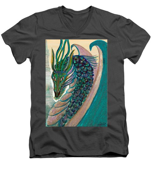 Healing Dragon Men's V-Neck T-Shirt