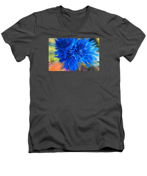 Men's V-Neck T-Shirt featuring the photograph Healing Of A Flower by Sherri  Of Palm Springs