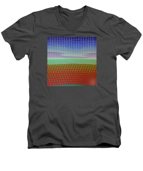 Heart Fields Again Men's V-Neck T-Shirt