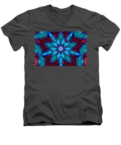 Heart Flower Men's V-Neck T-Shirt