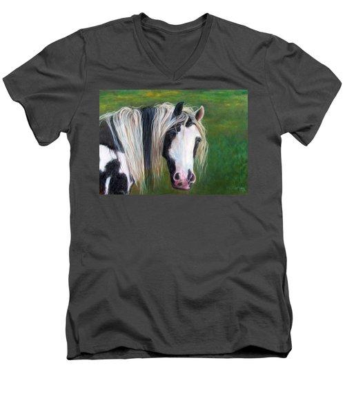 Heart Men's V-Neck T-Shirt by Karen Kennedy Chatham