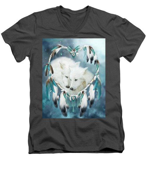 Heart Of A Wolf Men's V-Neck T-Shirt
