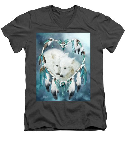 Heart Of A Wolf Men's V-Neck T-Shirt