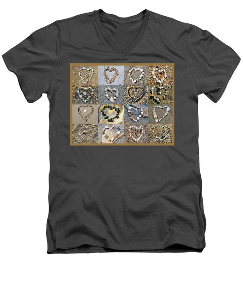 Heart Of Hearts Men's V-Neck T-Shirt