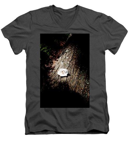 Heart Shape Stop Men's V-Neck T-Shirt