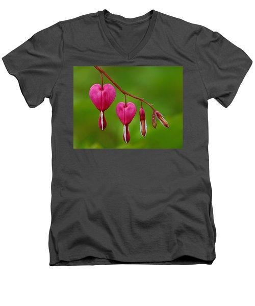Heart String Men's V-Neck T-Shirt