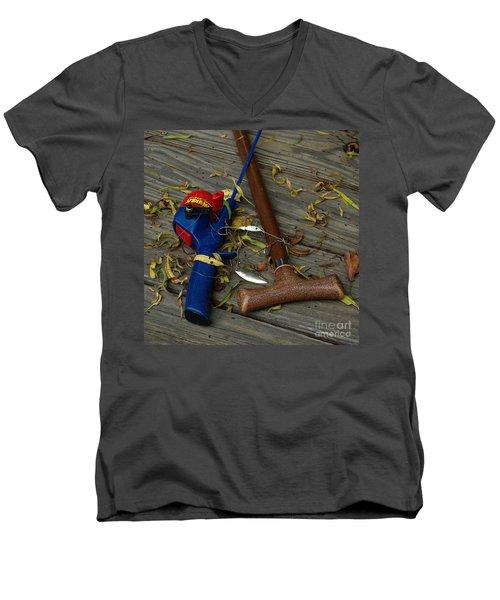 Heart Strings Men's V-Neck T-Shirt by Peter Piatt