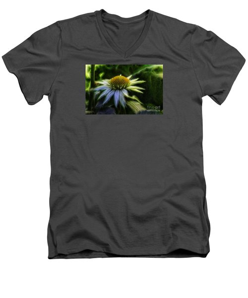 Heart Treasure Men's V-Neck T-Shirt by Jean OKeeffe Macro Abundance Art