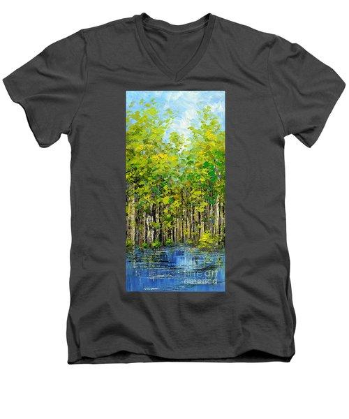 Heat Of Summer Men's V-Neck T-Shirt by Tatiana Iliina