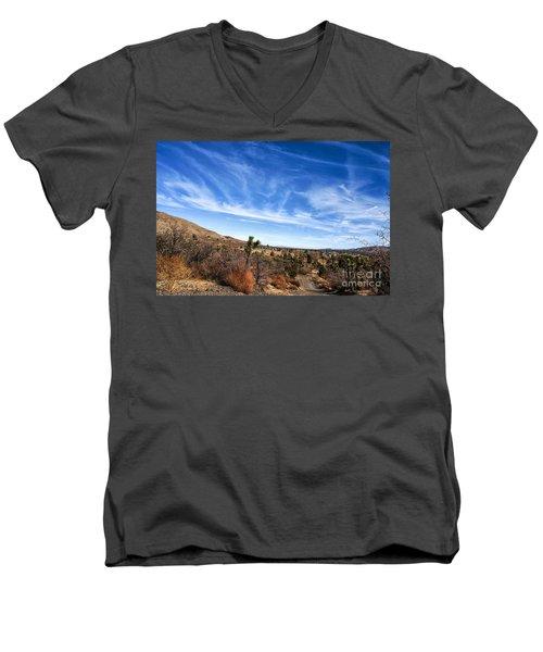 Heaven Men's V-Neck T-Shirt by Angela J Wright