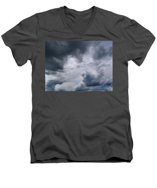 Heaven Looks Angry Men's V-Neck T-Shirt