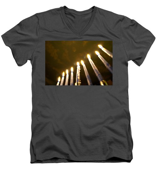 Heavenly Lights Men's V-Neck T-Shirt