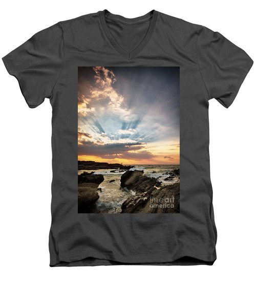 Heavenly Skies Men's V-Neck T-Shirt