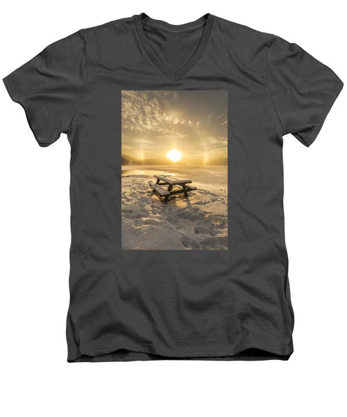 Men's V-Neck T-Shirt featuring the photograph Heavenly Sleep by Rose-Maries Pictures