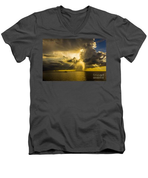 Heavens Window Men's V-Neck T-Shirt by Marvin Spates