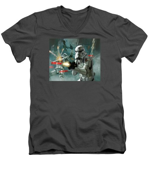 Heavy Storm Trooper - Star Wars The Card Game Men's V-Neck T-Shirt