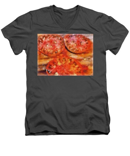 Heirlooms With Salt And Pepper Men's V-Neck T-Shirt