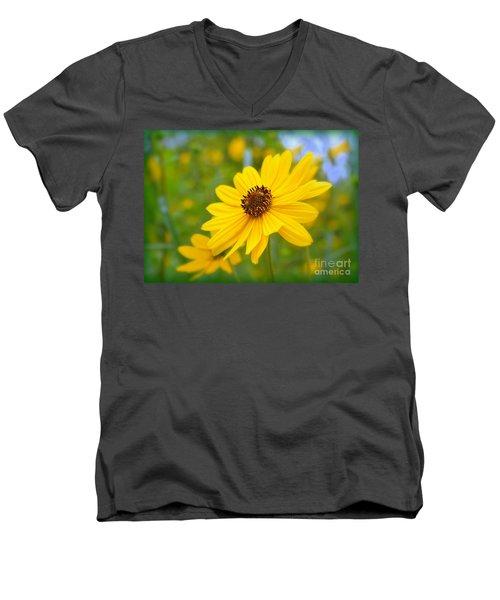 Helianthus Men's V-Neck T-Shirt
