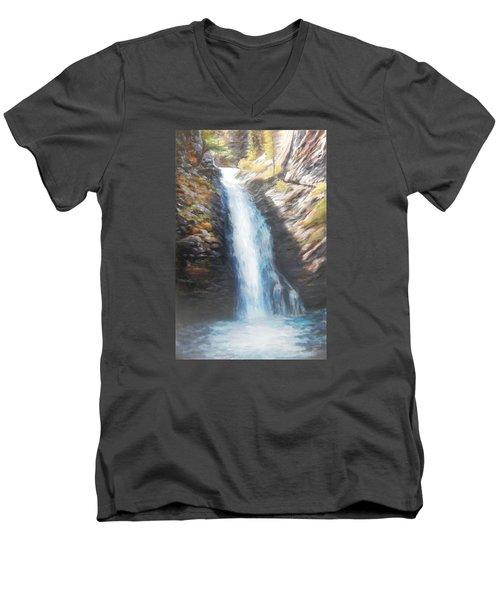 Hell Roaring Falls Men's V-Neck T-Shirt by Patti Gordon