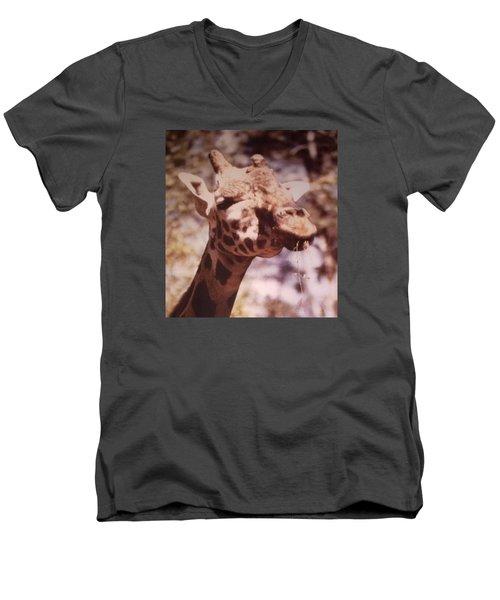 Velvety Giraffe Men's V-Neck T-Shirt