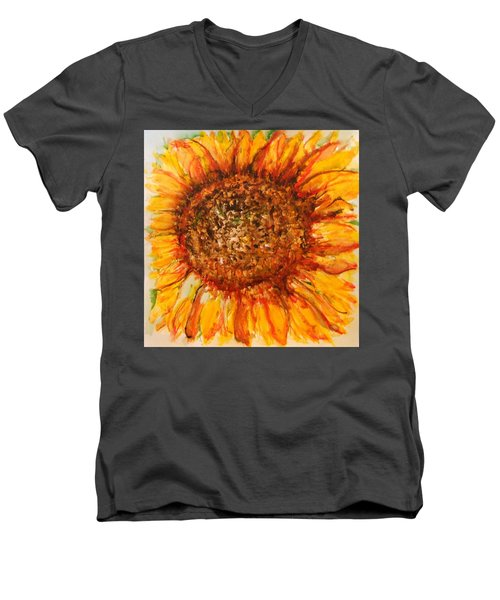 Hello Sunflower Men's V-Neck T-Shirt