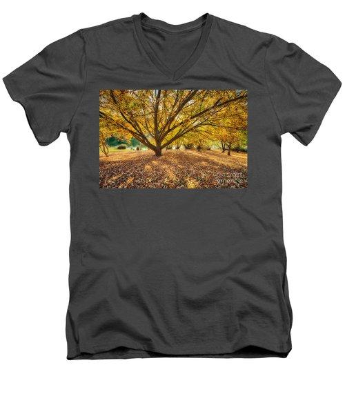 Hello Yellow Men's V-Neck T-Shirt
