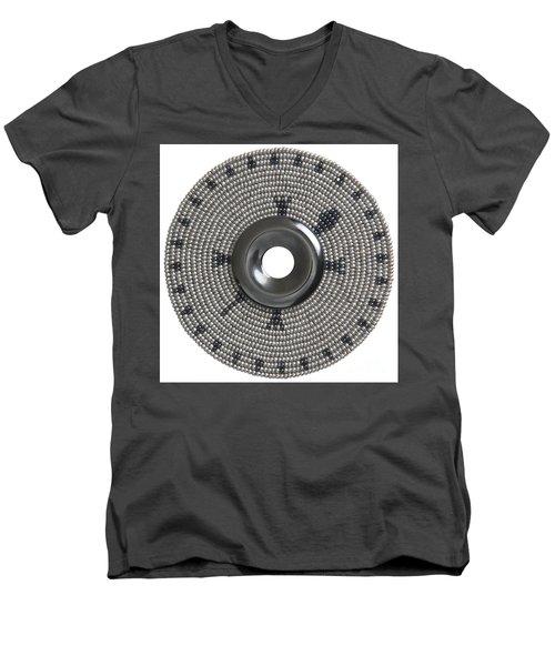 Hematite Men's V-Neck T-Shirt