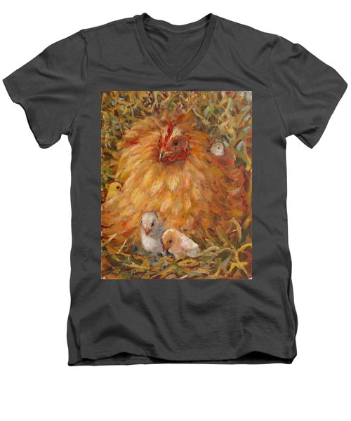 Hen And Chicks Men's V-Neck T-Shirt
