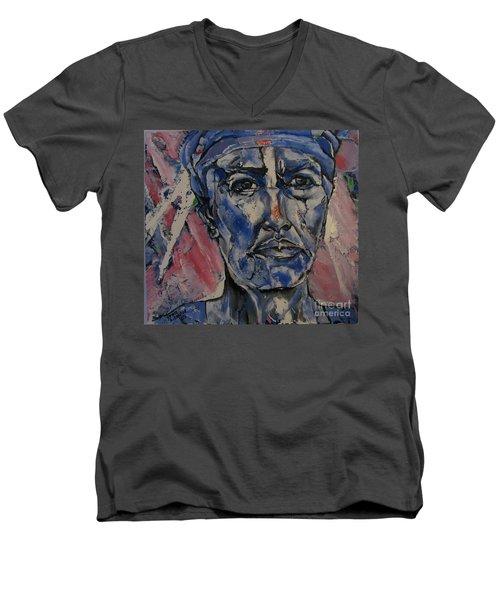 Her Convictions - Portriat Men's V-Neck T-Shirt