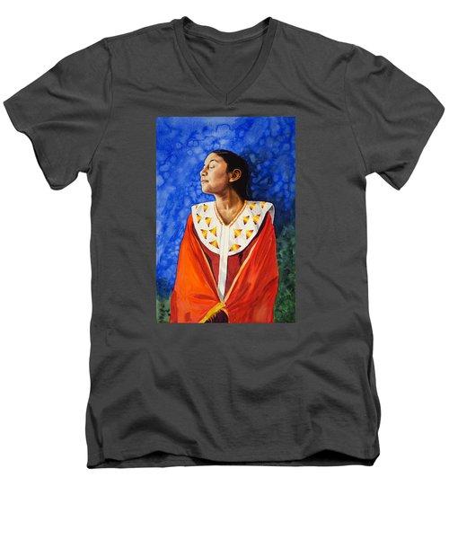 Da209 Here Comes The Sun By Daniel Adams Men's V-Neck T-Shirt