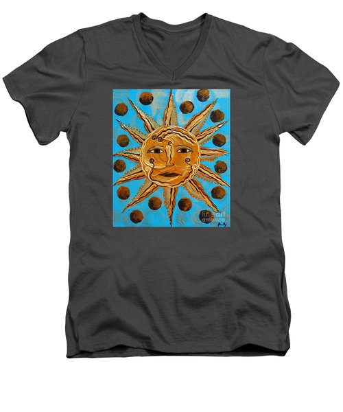 Here Comes The Sun Men's V-Neck T-Shirt