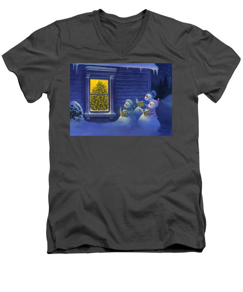 Here We Come A Caroling Men's V-Neck T-Shirt