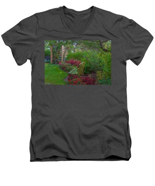 Hereford Inlet Lighthouse Garden Men's V-Neck T-Shirt