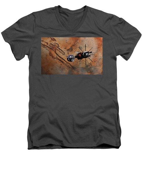 Hermes1 With The Mars Lander Ares1 In Sight Men's V-Neck T-Shirt