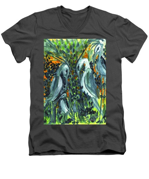 Herons Men's V-Neck T-Shirt