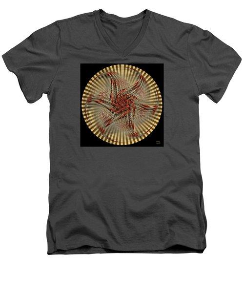 Men's V-Neck T-Shirt featuring the digital art Hexagramma by Manny Lorenzo