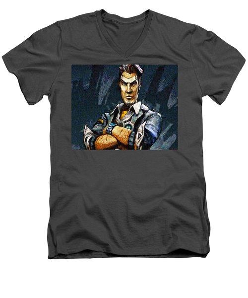 Hey Vault Hunter Handsome Jack Here Men's V-Neck T-Shirt