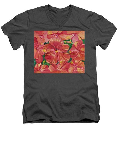 Hibiscus Men's V-Neck T-Shirt