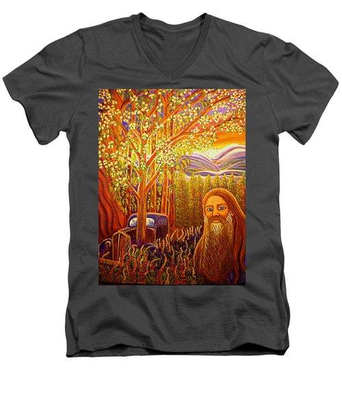 Hidden Mountain Man Men's V-Neck T-Shirt