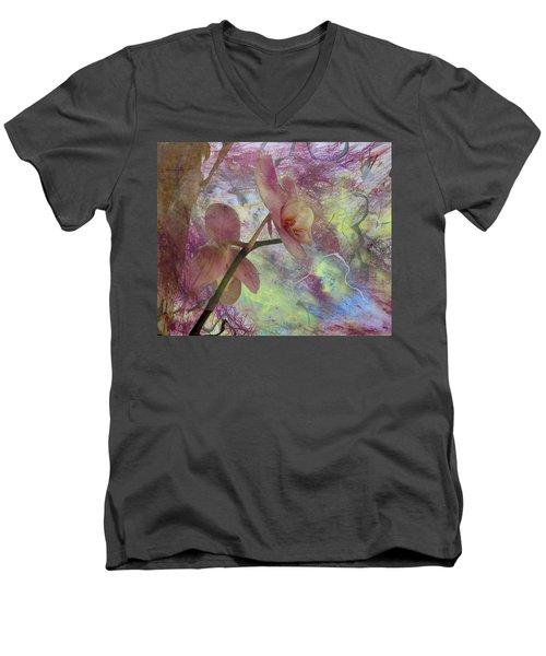 Hidden Orchid Men's V-Neck T-Shirt