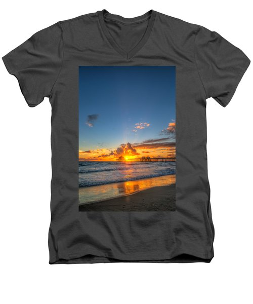 Hiding Sunset Men's V-Neck T-Shirt