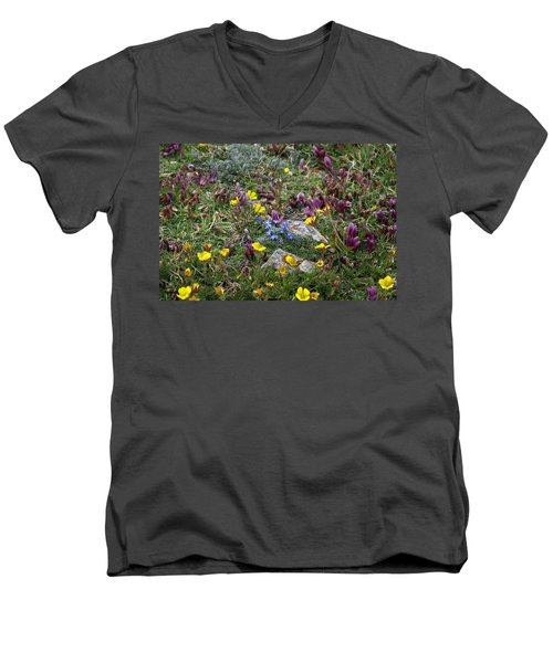 Men's V-Neck T-Shirt featuring the photograph High Anxiety by Jeremy Rhoades