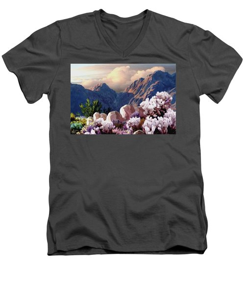 High Desert Sunrise Men's V-Neck T-Shirt by Ron Chambers