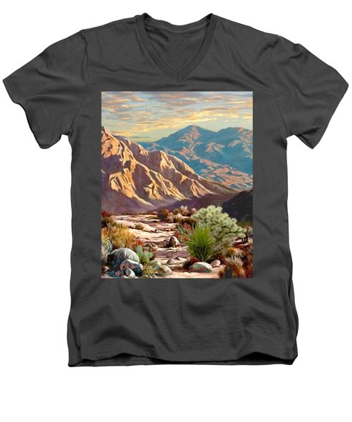 High Desert Wash Portrait Men's V-Neck T-Shirt by Ron Chambers