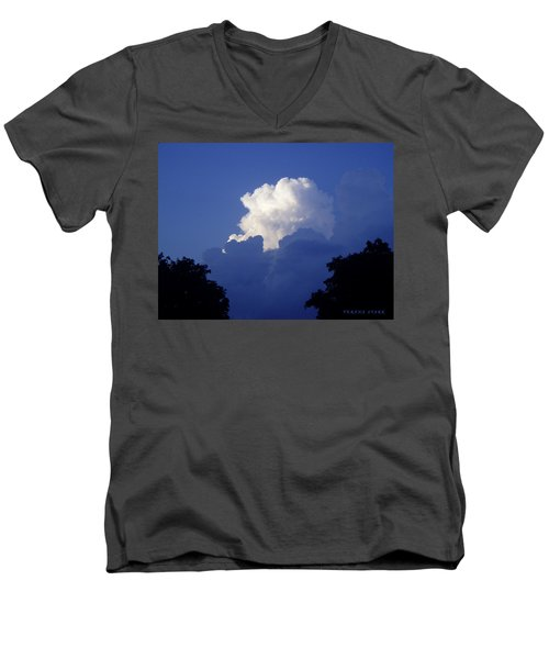 High Towering Clouds Men's V-Neck T-Shirt by Verana Stark