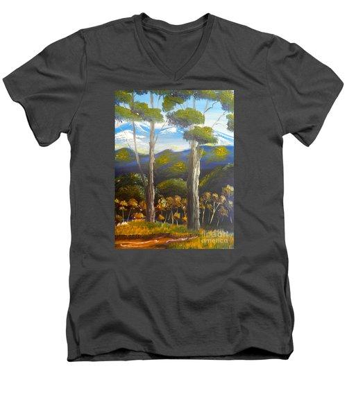 Highlands Gum Trees Men's V-Neck T-Shirt