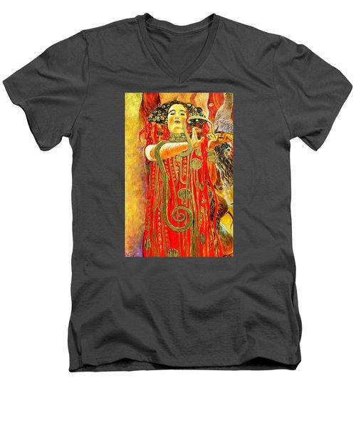 Higieja-according To Gustaw Klimt Men's V-Neck T-Shirt by Henryk Gorecki