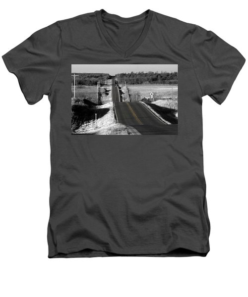Men's V-Neck T-Shirt featuring the photograph Hilly Ride by Brian Duram