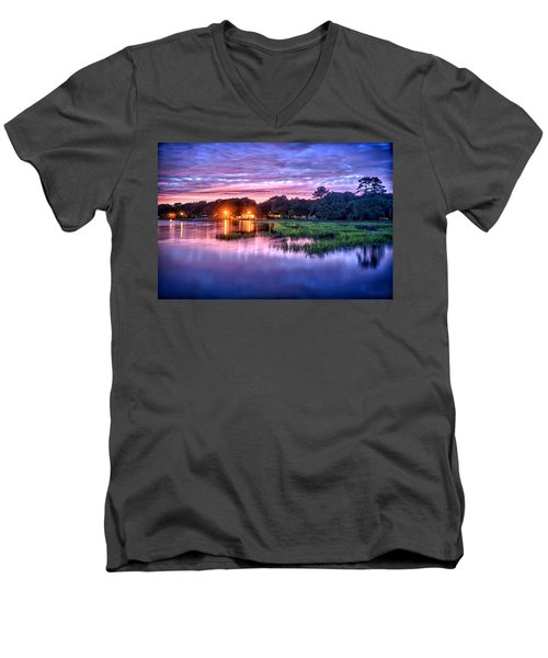 Hilton Head Evening Marsh Men's V-Neck T-Shirt