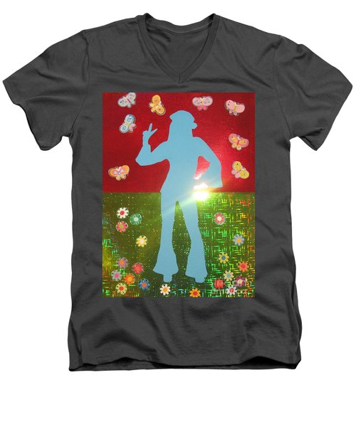 Hippie Girl Men's V-Neck T-Shirt by Jeepee Aero